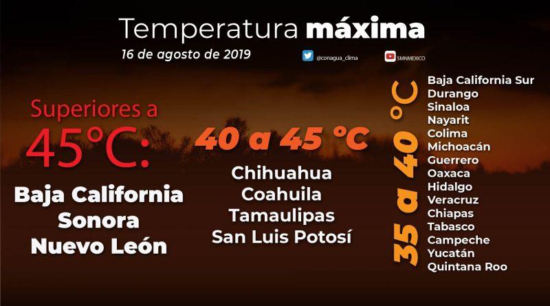 Altas temperaturas se mantendrán en el norte del país
