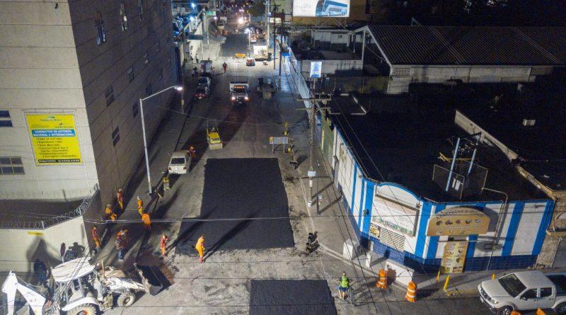 Cubren 10 mil metros cuadrados más con trabajos de bacheo en Monterrey