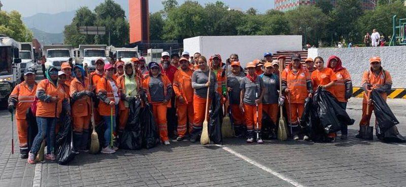 Ciudadanos tiran 71 toneladas de basura en festejos patrios en Monterrey