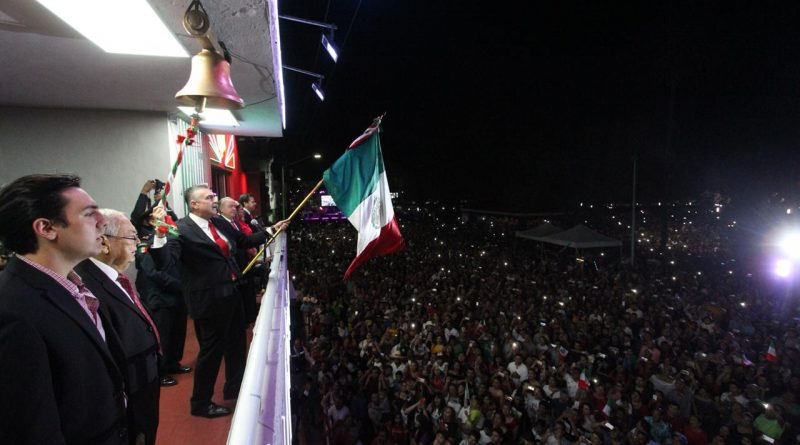 Celebran 30 mil el Grito de Independencia en Apodaca