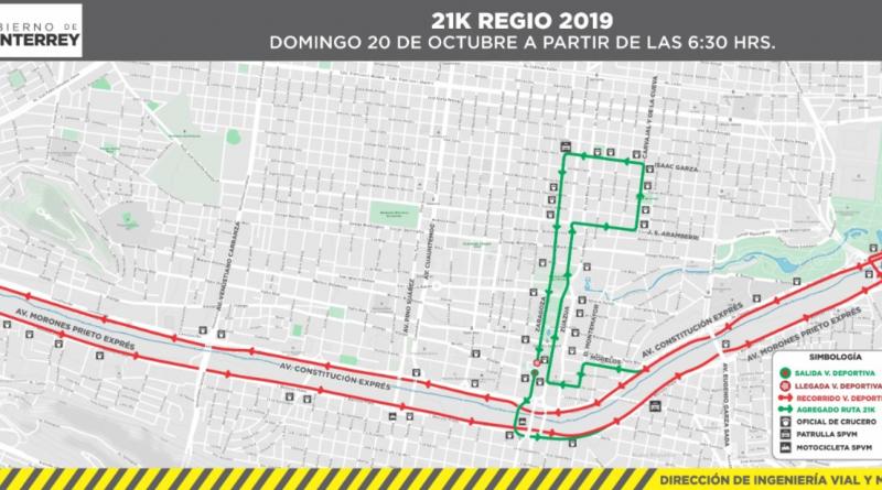 Cerrarán vialidades en el centro por 21K Regio
