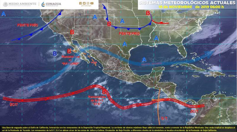 Pronostican lluvias fuertes para Sonora, Chihuahua, Durango y Sinaloa