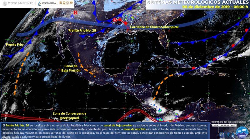 Lluvias afectarán el Sureste del país