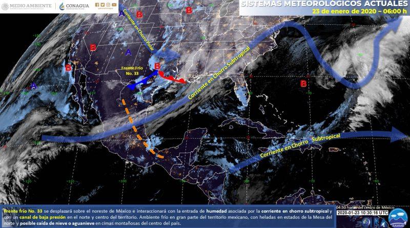 Hay condiciones para lluvias en el Noreste, Oriente y Centro del país
