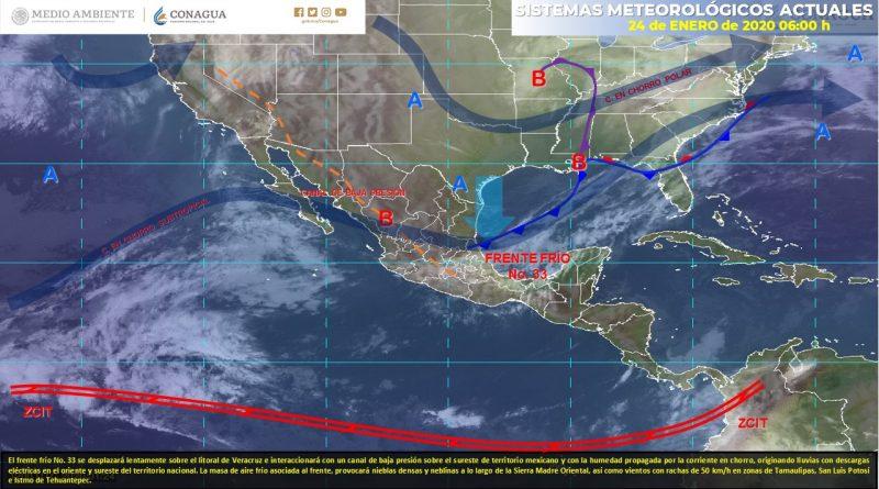 Pronostican vientos de 50 km/h para Tamaulipas y SLP