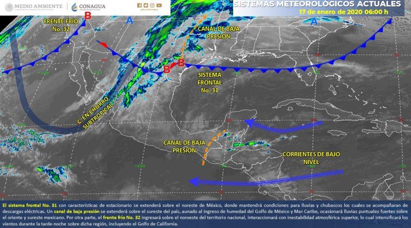 Condiciones de lluvia se mantendrán en el Noreste del país