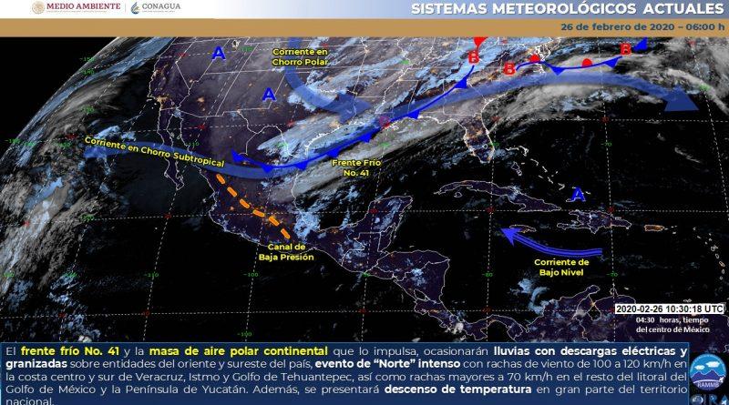 Masa de aire polar afectará gran parte del país