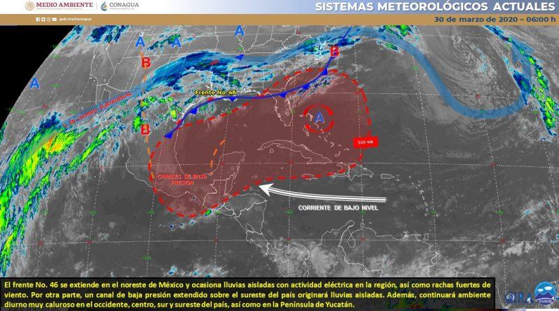 Pronostican lluvias aisladas para el Norte y Noreste del país