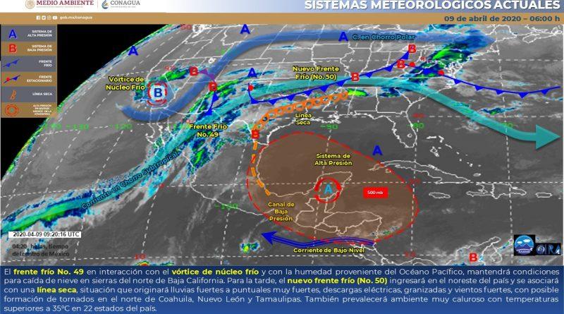 Pronostican posibles tornados en estados del Norte del país