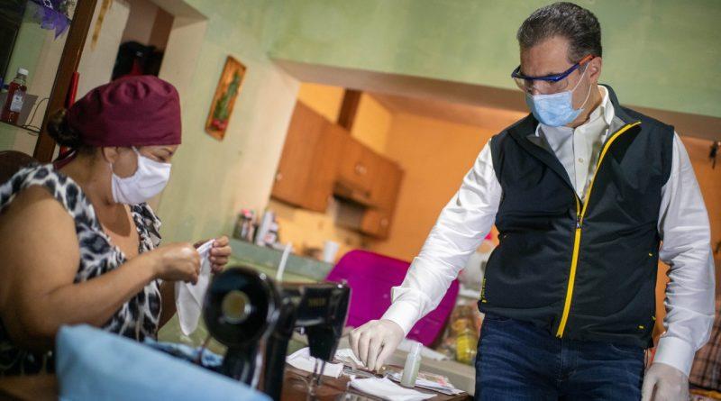 Ampliará Adrián de la Garza empleo temporal y elaboración de cubrebocas
