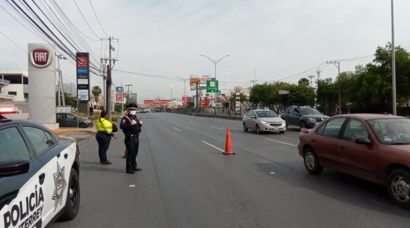 Instala Monterrey filtros viales de prevención por el COVID 19
